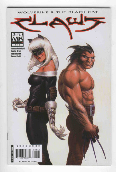 Claws #1 Wolverine and The Black Cat Linsner Art VFNM