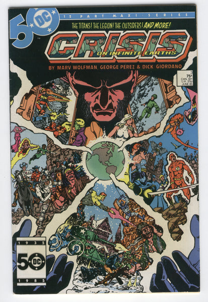 Crisis On Infinite Earths #3 Jonah Hex Sgt. Rock Perez Art Bronze Age Classic VF