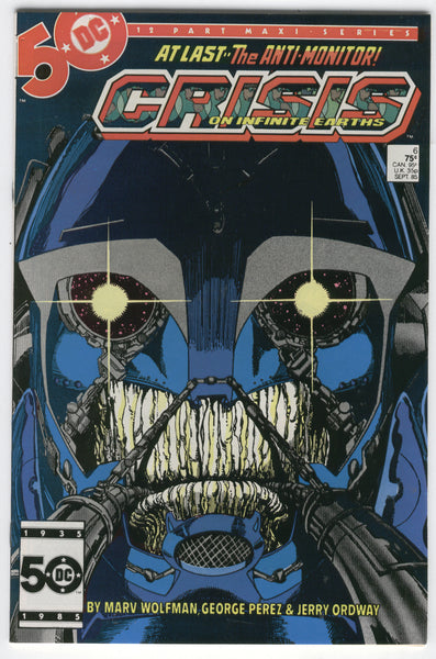 Crisis On Infinite Earths #6 The Anti-Monitor Perez Art FVF
