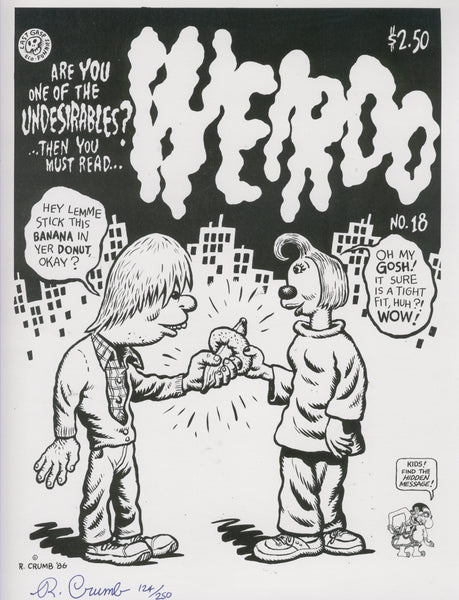 Robert Crumb Weirdo Signed & Numbered Print 124 of 250 excellent condition!