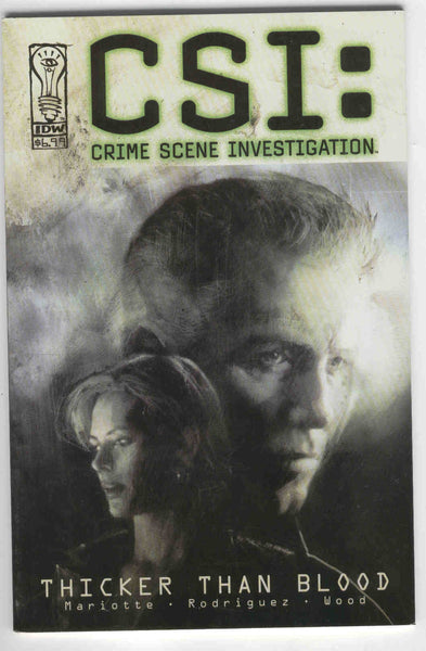 CSI: Crime Scene Investiagion Thicker Than Blood Graphic Novel Signed by Jeff Mariotte VF
