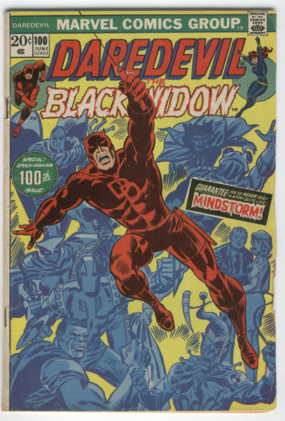 Daredevil #100 w/ The Black Widow Bronze Age Key VG-