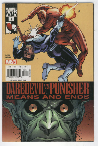 Daredevil Vs Punisher Means and Ends #2 FN