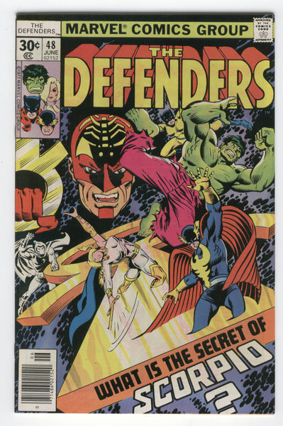 Defenders #48 What Is The Secret Of Scorpio Moon Knight Giffen Art Bronze Age Key FVF