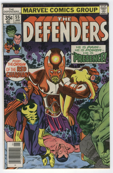 Defenders #55 Origin Of The Red Guardian Bronze Age Classic FN