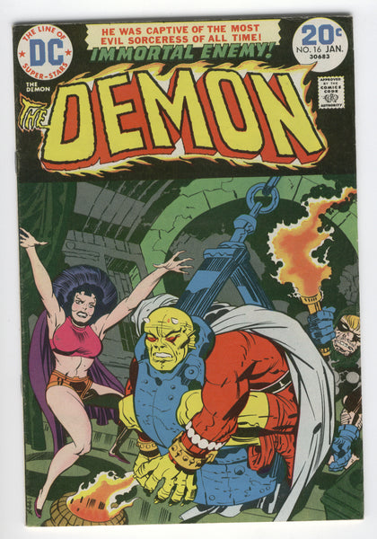 Demon #16 The Immortal Enemy Jack Kirby Bronze Age Classic FVF