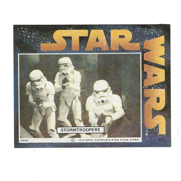 Star Wars Vintage Adpac General Mills Promotional Sticker Set Stormtroopers HTF