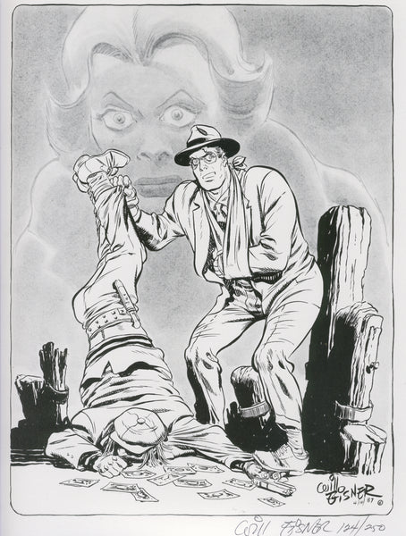 Will Eisner Signed & Numbered Spirit Print #124 of 250 Excellent Condition