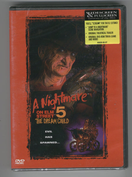 Nightmare On Elm Street 5 The Dream Child DVD sealed Freddy Krueger