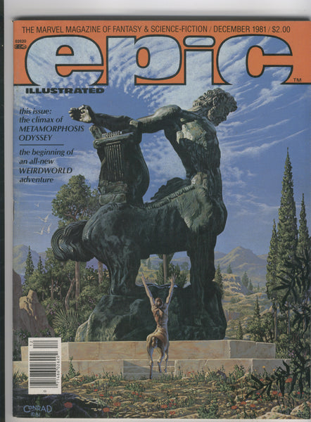 Epic Illustrated #9 1981 Conrad Vess Russell Art VF Very Great