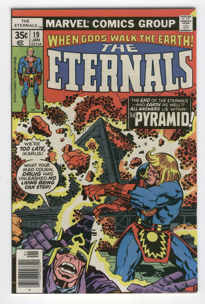 Eternals #19 The Pyramid Jack Kirby Bronze Age Classic Last Issue FVF