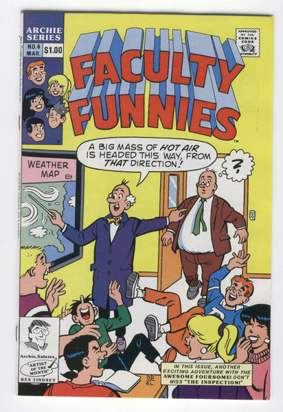 Archie Faculty Funnies #4 HTF 1990 Humor Series VF