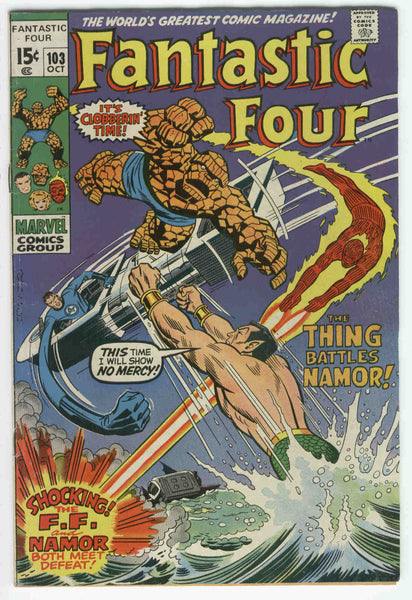 Fantastic Four #103 At War With Atlantis Early Romita Issue VGFN