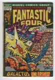 Fantastic Four #122 Galactus Unleashed Silver Bronze Age Mark Jewelers Variant Gd