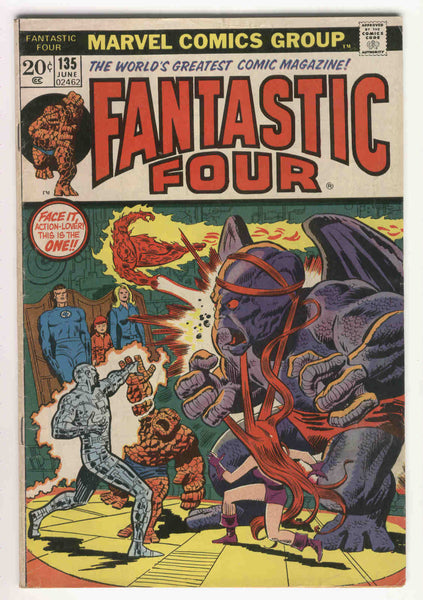 Fantastic Four #135 The Eternity Machine Bronze Age Classic VG