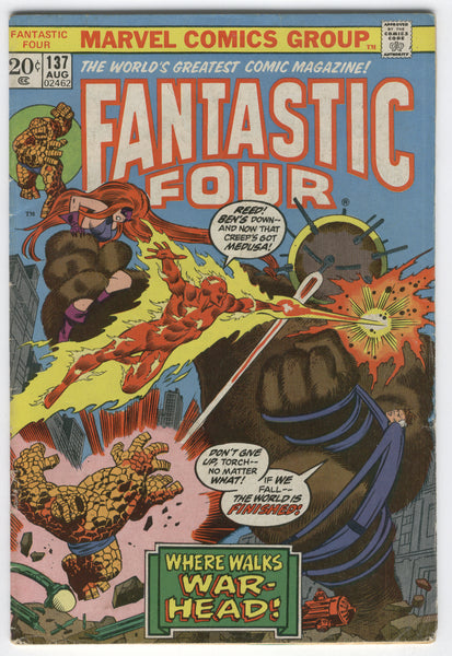 Fantastic Four #137 The World Is Finished Bronze Classic VG