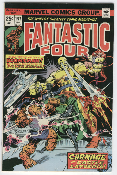 Fantastic Four #157 Dr. Doom & The Silver Surfer Bronze Age Classic VF