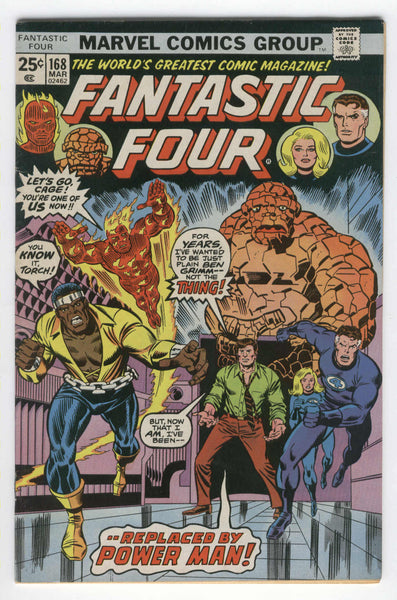 Fantastic Four #168 Luke Cage Joins The Team Bronze Age Key Fine