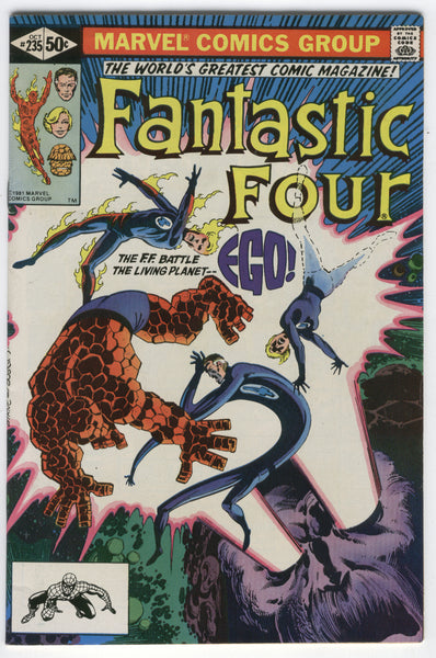 Fantastic Four #235 EGO The Living Planet Byrne Art FN