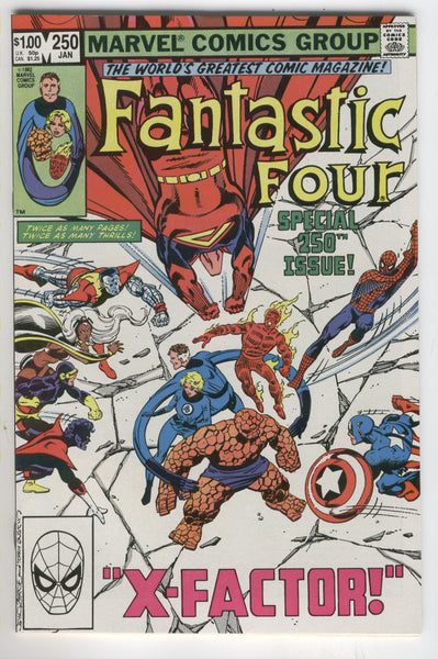 Fantastic Four #250 Byrne X-Men Art VFNM