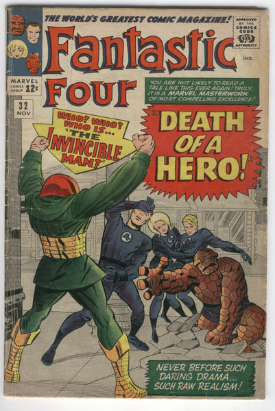 Fantastic Four #32 The Invincible Man Silver Age Kirby Key GVG