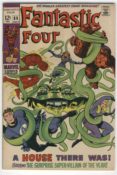 Fantastic Four #88 A House There Was Silver Age KIrby Classic VG+