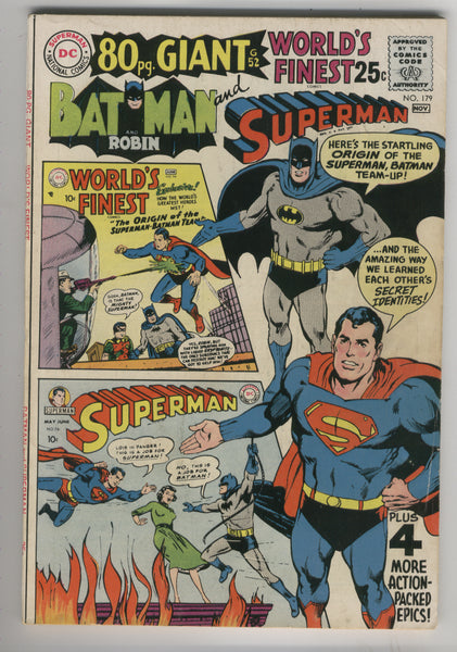 World's Finest #179 80 Page Giant FN