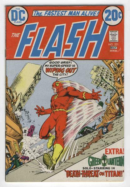Flash #221 The Fastest Man Alive w/ Green Lantern Bronze Age Classic FN