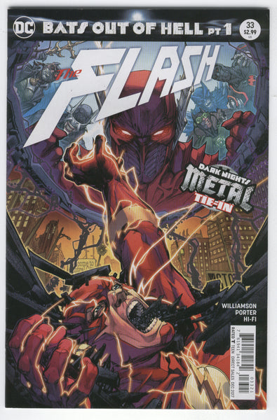Flash #33 DC Rebirth B Cover Variant Bats Out Of Hell VFNM