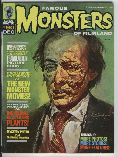 Famous Monsters Of Filmland #60 Frankenstein Picture Book Silver Age Basil Gogos Cover FVF