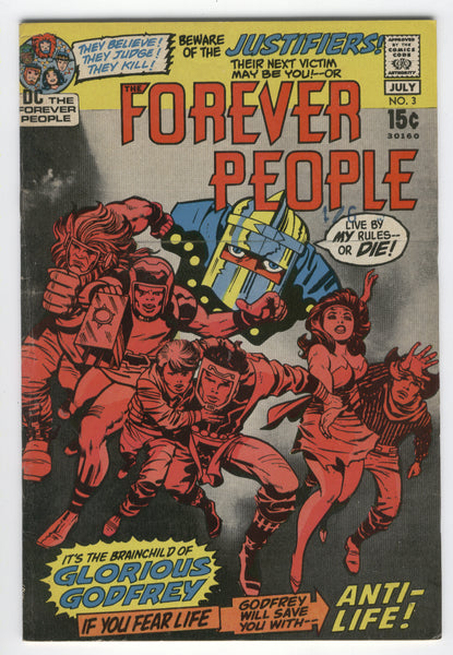 Forever People #3 Jack Kirby Bronze Classic Photo Cover Darkseid FN