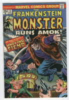 Frankenstein Monster #13 The Undying Fiend Mayerik Art Bronze Age Horror Classic VF