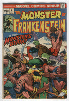 Frankenstein Monster #4 Death Of The Monster Bronze Age Horror Classic Friedrich Ploog VGFN