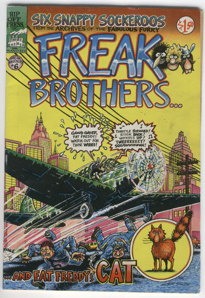 Freak Brothers #6 Gilbert Shelton 1980 1.50 covere price VG