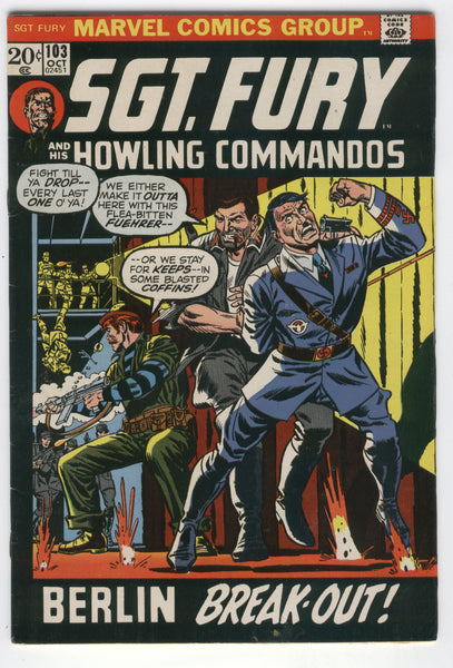 Sgt. Fury And His Howling Commandos #103 Bronze Age Hitler Cover VGFN