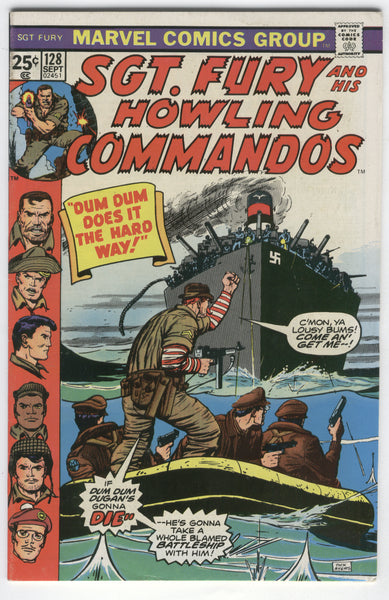 Sgt. Fury And His Howling Commandos #128 Dum Dum Does It The Hard Way! Bronze Age FN
