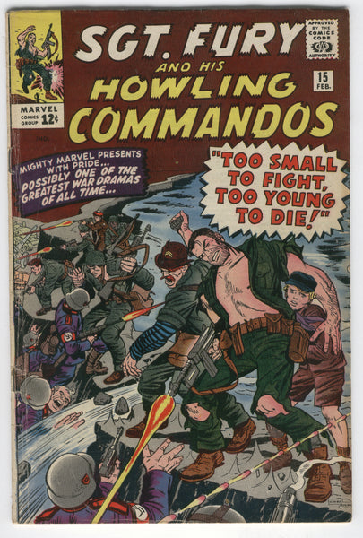 Sgt. Fury And His Howling Commandos #15 Too Young To Die! Silver Age Classic VG