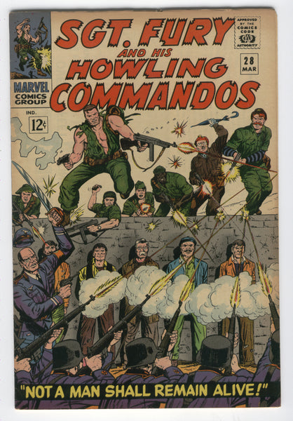 Sgt Fury and His Howling Commandos #28 Not a Man Shall Remain Alive Silver Age Classic FVF