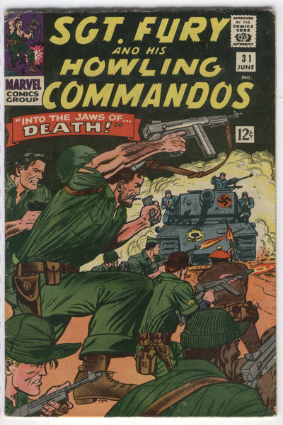 Sgt. Fury And His Howling Commandos #31 Into The Jaws Of Death! Silver Age VG