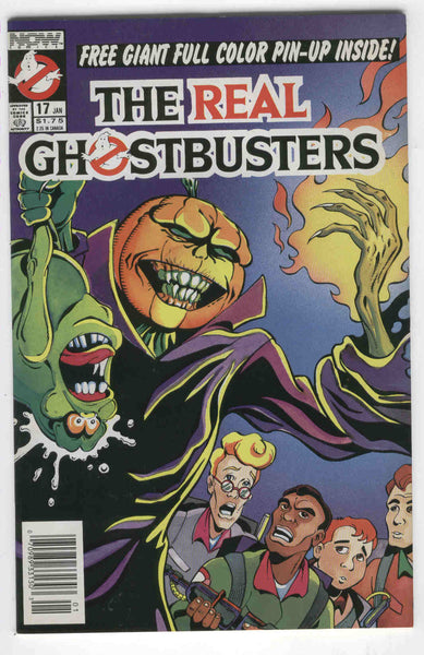 Real Ghostbusters #17 Now Comics HTF News Stand Variant w/ Poster Insert VF