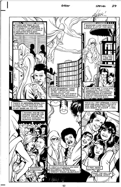 Ghost Special #1 Page 27 Original Art Matt Haley Dark Horse 1994