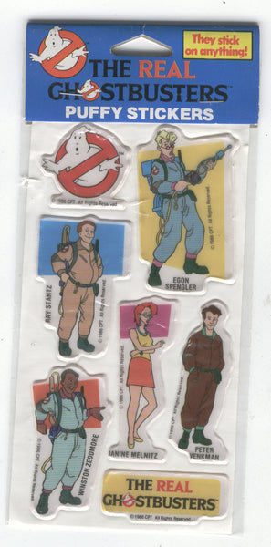 The Real Ghostbusters Puffy Stickers HTF Sealed 1988