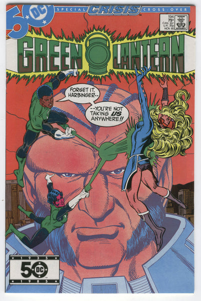 Green Lantern #194 Crisis Cross-Over VFNM