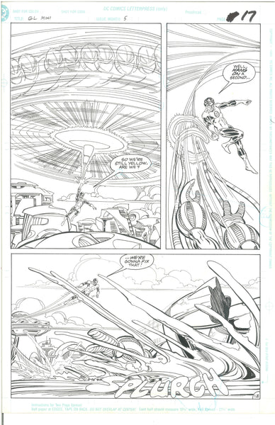 Green Lantern Emerald Dawn #5 Page 13 Original Art Mark Bright 1990