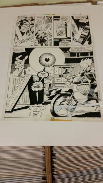 Ghost Rider Bronze Age Original Art #14 Page 23 Bronze Age Tuska Art Featuring The Orb