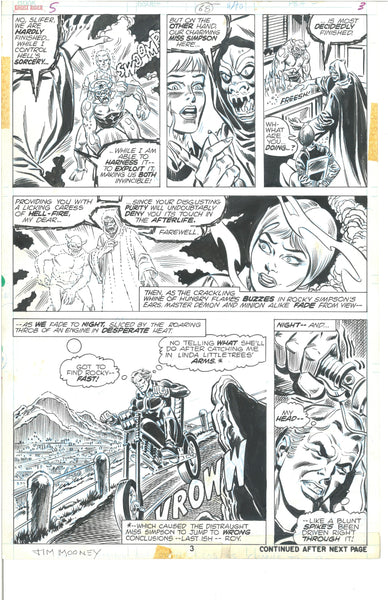 Ghost Rider #5 Page 3 Original Art Jim Mooney Bronze Age Panel Page