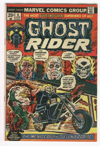 Ghost Rider #6 Menace Of The Second Zodiac Bronze Age Classic FVF