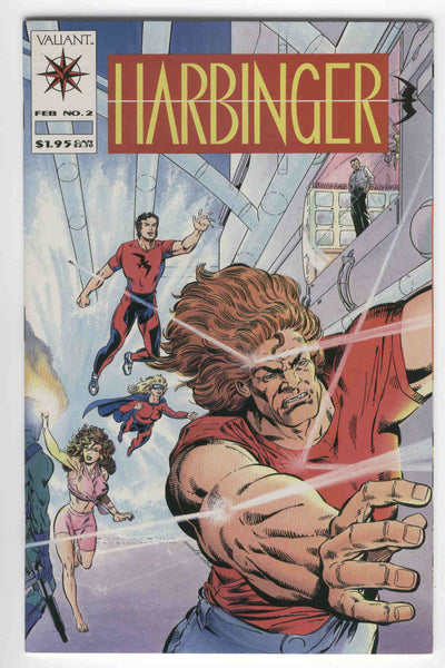 Harbinger #2 with mail away coupon HTF Early Valiant NM-