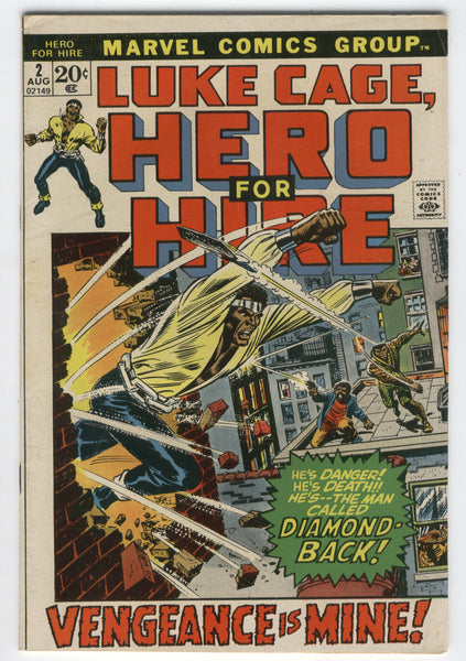 Luke Cage, Hero For Hire #2 Vengeance Is Mine Diamond-Back Tuska Art Fine