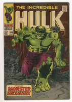 Incredible Hulk #105 This Monster Unleashed Silver Age Key VG